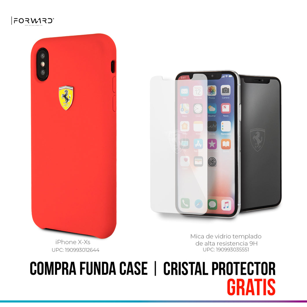 Funda Case Silicon Roja Ferrari iPhone X/xs