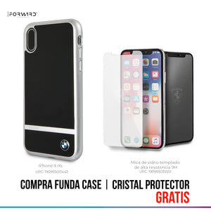Funda Case BMW Aluminium Stripe Hard Black iPhone X/xs