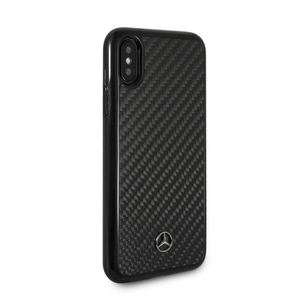 Funda Case Mercedes Benz Fibra Carbono iPhone X/xs