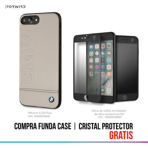 Funda Case BMW Logo Imprint Hard iPhone 6,7,8 Plus