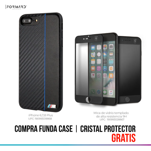 Funda Case BMW Signa Fibra Carbono iPhone 6,7,8 Plus