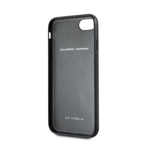Funda Case En Piel Negra Ferrari iPhone 6, 7, 8 y SE - ForwardContigo