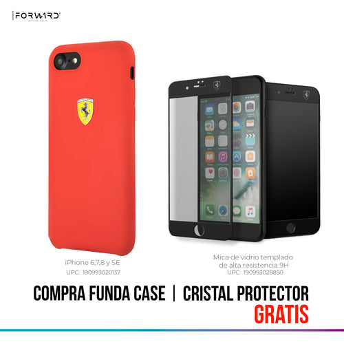 Case Funda Silicon Roja Ferrari Ip 6,7,8 y SE