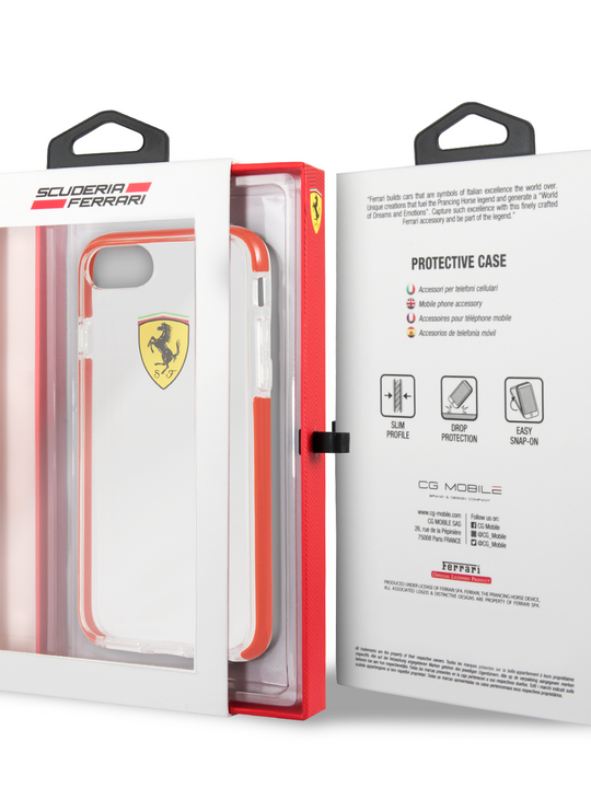 Funda Case Cristal Rojo Ferrari Original iPhone 6, 7, 8 y SE