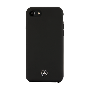 Case Funda Mercedes Benz silicon negra iPhone 6, 7, 8 y SE - ForwardContigo