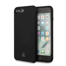 Cargar imagen en el visor de la galería, Funda Case Mercedes Benz Silicon Negra iPhone 6+7,8 Plus - ForwardContigo