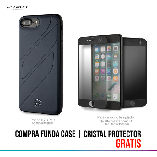 Funda Case Mercedes Benz negra Grecas iPhone 6,7,8 Plus