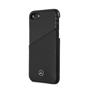 Funda Case Mercedes Benz Piel/carbono Negra iPhone 6, 7, 8 y SE - ForwardContigo