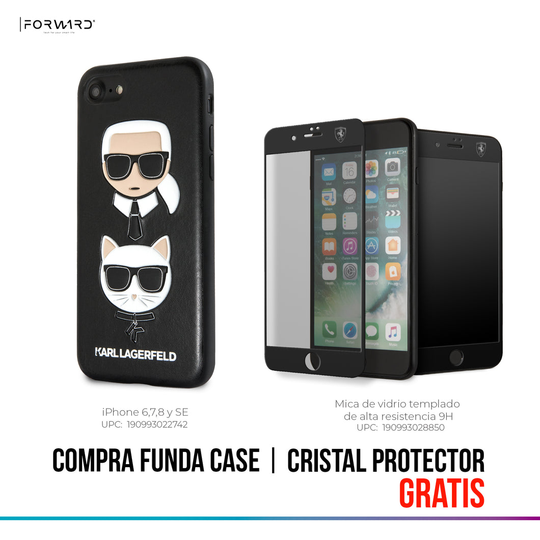 Funda Case Karl Choupette Negra iPhone 6, 7, 8 y SE