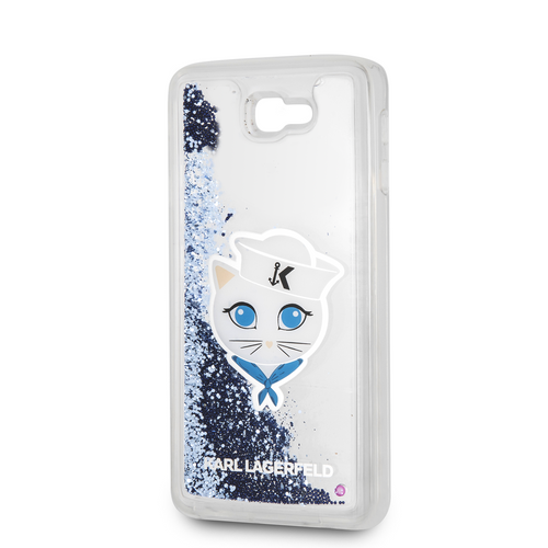 Funda Case Karl Lagerfeld Chupet Marin Brillo Liquido Azul J7 - ForwardContigo
