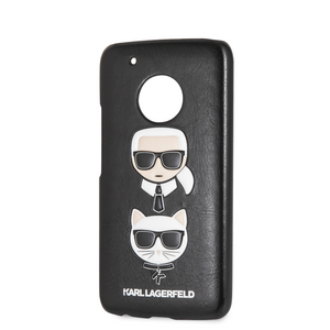 Case Funda Karl Lagerfeld y choupette negra Motorola G5 Plus - ForwardContigo