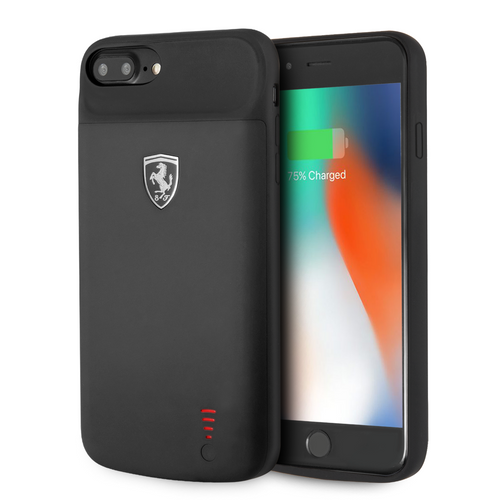 Power Case Ferrari Negra 2800mha iPhone 8 Plus - ForwardContigo