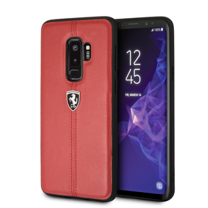 Funda Case De Cuero Ferrari Raya Rojo Para Galaxy S9 Plus - ForwardContigo