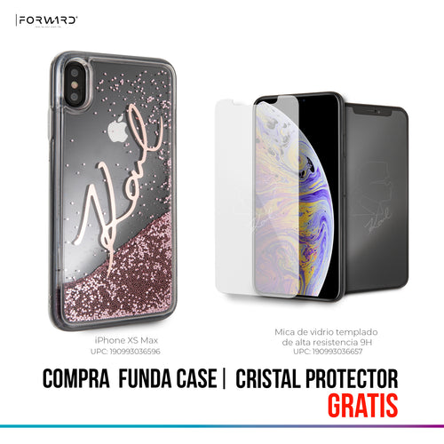 Funda Case Firma Karl Brillo Liquido Rosa iPhone Xs Max