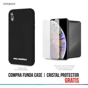 Case Funda Karl Lagerfeld silicon negro iPhone X/XR