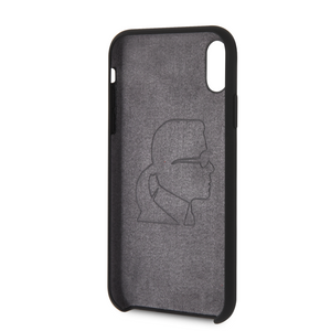 Case Funda Karl Lagerfeld silicon negro iPhone X/XR - ForwardContigo