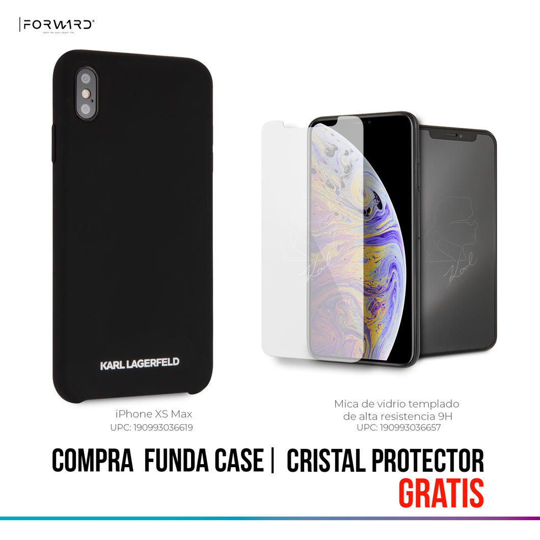 Funda Case Karl Lagerfeld Silicon Negro iPhone Xs Max