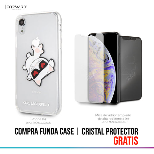 Funda Case Choupette Sujeta Logo iPhone Xr