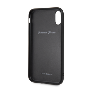 Case Funda Ferrari piel Negra flechas iPhone XR - ForwardContigo