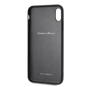 Funda Case Ferrari Piel Negra Flechas  iPhone Xs Max - ForwardContigo