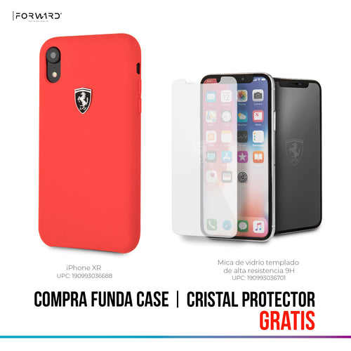 Funda Case Ferrari Silicon Roja iPhone Xr
