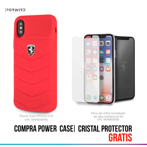Power Funda Case Ferrari Roja 3600mha iPhone X/xs