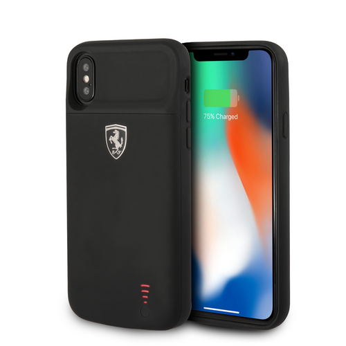 Power Funda Case Ferrari Negra 4000mha iPhone Xs Max - ForwardContigo