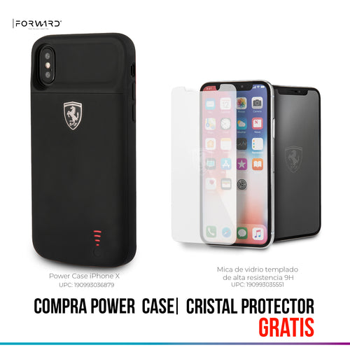 Power Funda Case Ferrari Negra 3600 mAh iPhone X