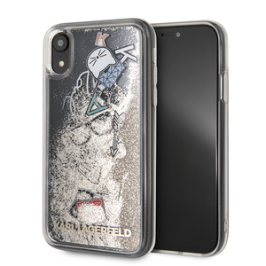 Case Funda Karl Oro Líquido iPhone XR - ForwardContigo