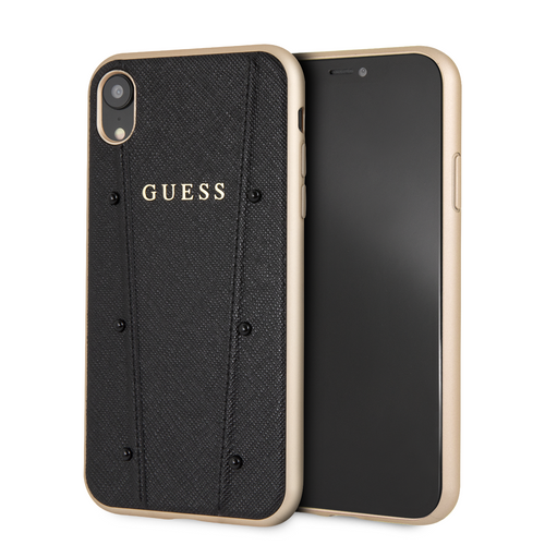 Case Funda Guess Negra Piedras iPhone XR - ForwardContigo