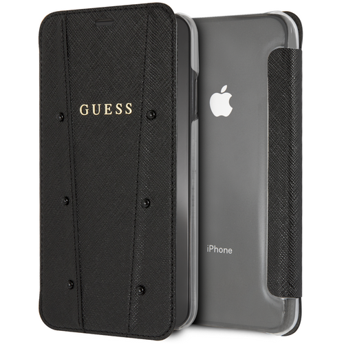 Case Funda Guess Negra Wallet Piedras iPhone XS MAX - ForwardContigo