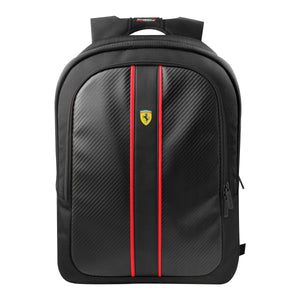 Urban Mochila Negra Premium Usb Ferrari - ForwardContigo