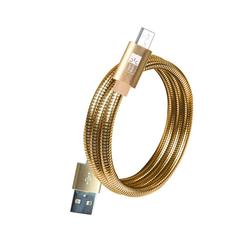 Cable Micro USB Metalico Dorado De 1 Metro Case Logic - ForwardContigo