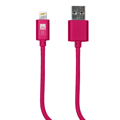 Cable Lightning Tejido Rosa Case Logic - ForwardContigo