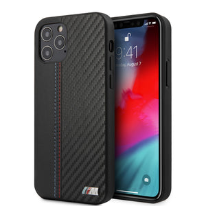 Case/Funda BMW tipo piel carbono negro para iPhone 12 y iPhone 12 Pro