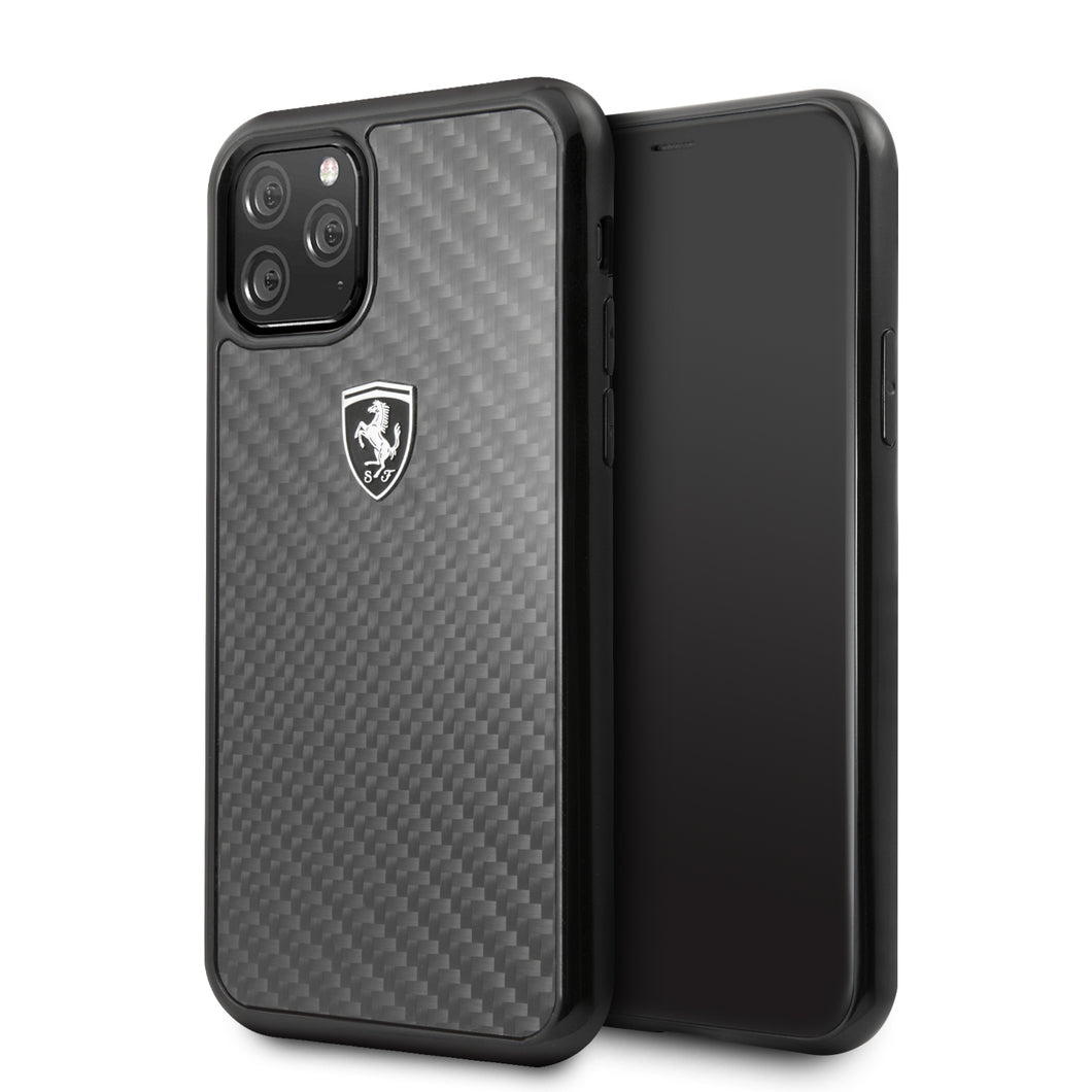 Case Funda Ferrari fibra de carbono iPhone 11 Pro - ForwardContigo