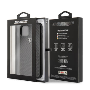 Case Funda Ferrari fibra de carbono iPhone 11 Pro MAx - ForwardContigo