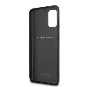 Case Funda Ferrari Piel Negra Grabado Victory Samsung Galaxy S20 Plus - ForwardContigo
