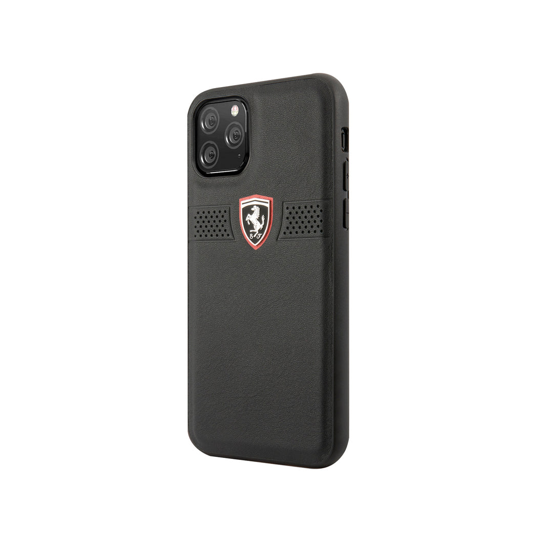 Funda Case Piel Ferrari Perforado negro iPhone 11 PRO MAX