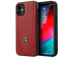 Case/Funda Ferrari piel costura Rojo iPhone 12 Mini