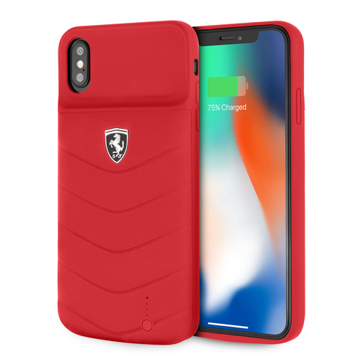 Power Funda Case Ferrari Roja 3600mha iPhone X/xs - ForwardContigo