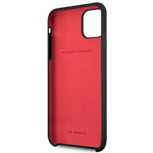 Funda Case Silicon Negra Ferrari iPhone 11 Pro Max - ForwardContigo