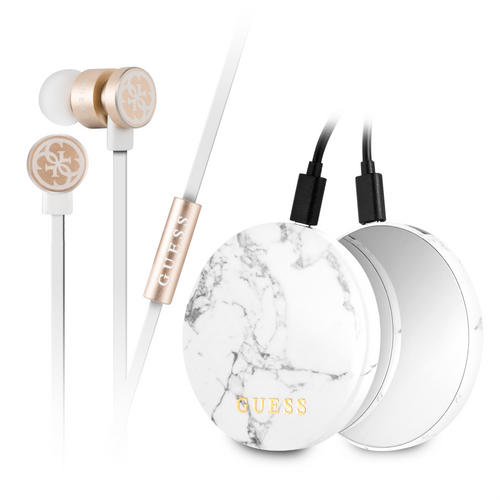 Kit Audifonos y Power Bank Guess - ForwardContigo