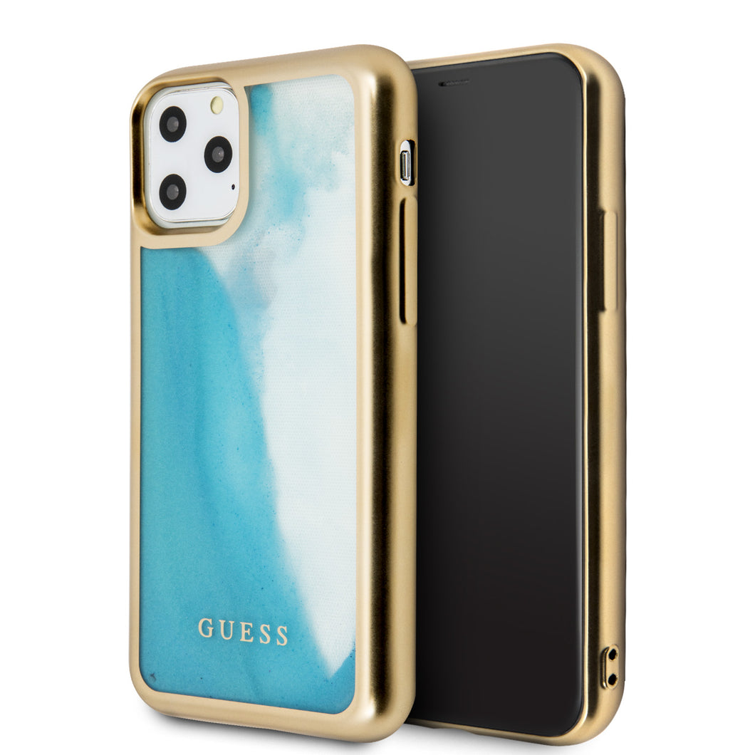 Funda Case Guess Degradada Gold&blue iPhone 11 Pro - ForwardContigo