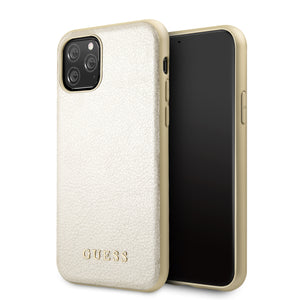 Funda Case Tipo Piel Guess Beige iPhone 11 Pro - ForwardContigo