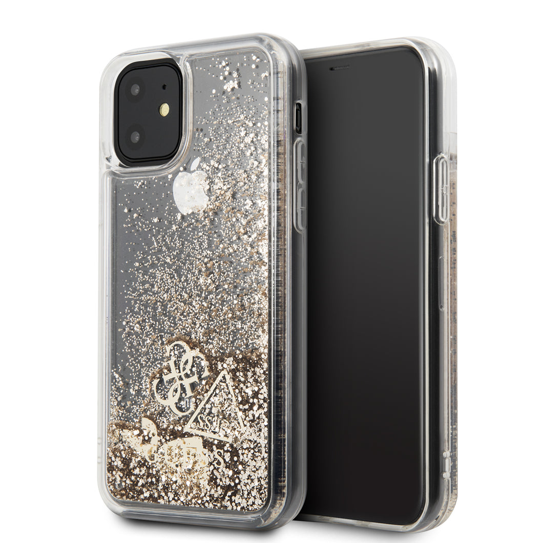 Case Funda  Guess Brillos Dorada iPhone 11 - ForwardContigo