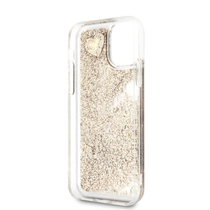 Funda Case Tpu Guess Glitter Dorado iPhone 11 Pro Max - ForwardContigo