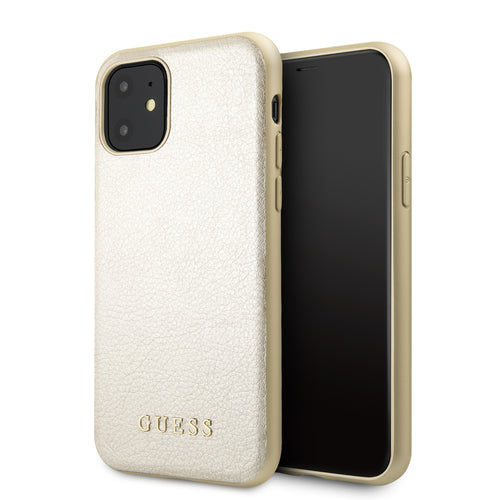 Funda Case Tipo Piel Guess Beige iPhone 11 - ForwardContigo