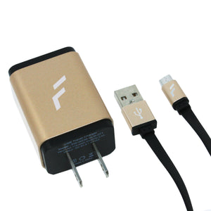 Cargador rápido de pared Micro USB Dorado Forward - ForwardContigo