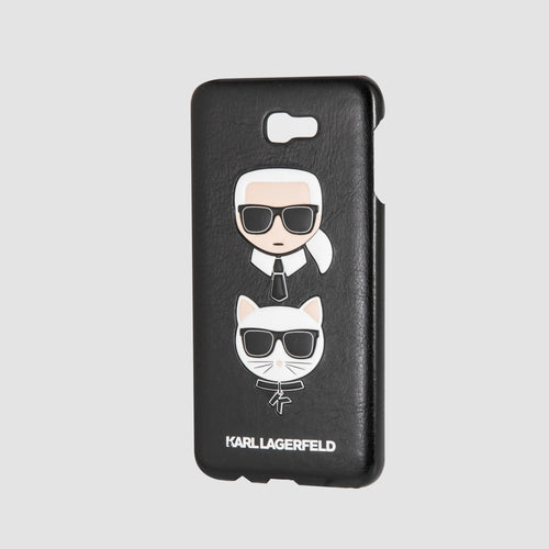 Case Funda Karl Lagerfeld y Choupette negra Galaxy J7 Prime - ForwardContigo